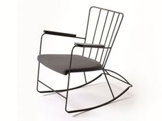 Rocking chair with armrests ROCKER - Buzzispace.