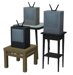 I decided to finish up this random bunch of WIPs. They're all conversions. Buy Electronics, I Decided, Sims 2, Corner Desk, Dining Table, It Is Finished, Random, Maxis, Furniture
