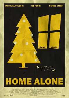 Home Alone - Minimal Movie Poster by Mainger Christmas Poster, Christmas Movies, Holiday Posters, Minimal Movie Posters, Minimal Poster, Christmas Colors, Christmas Themes, Home Alone Movie, Movies