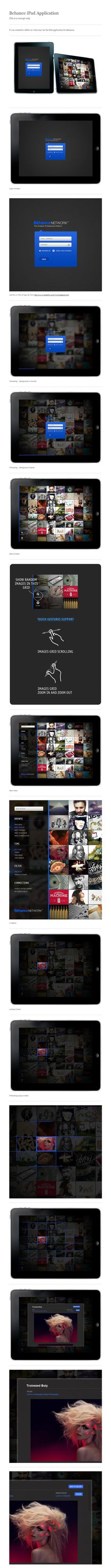 Behance iPad Application (Concept) / Vladimir Kudinov #ui #design #user #iterface #ios