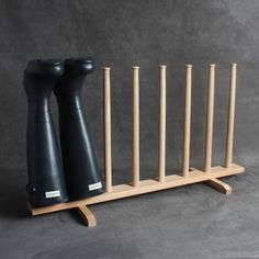 Solid Oak Shaker Style Boot Rack Stand Traditional Old Vintage Style Wellington Handmade Country Cottage Wooden Quality British - UK MADE by YesterHomeUK on Etsy https://www.etsy.com/listing/525968699/solid-oak-shaker-style-boot-rack-stand