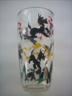 Vintage Scottie Dog Glass!