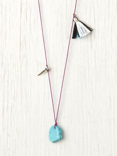Free People Inspirit Layering Necklaces, $24.00 in purple or silver