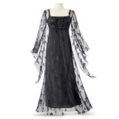 Nightshade Gown and Slip Dress Ensemble - Women's Clothing & Symbolic Jewelry – Sexy, Fantasy, Romantic Fashions