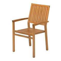 Gloster  Square Stacking Chair with Arms available at Hickory Park Furniture Galleries