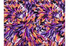 ITY Knit Funky Cheetah Print Purple Green Pink Polyester Lycra Jersey Fabric