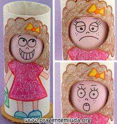 Bonequinha para trabalhar sentimentos e emoções - Pra Gente Miúda