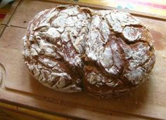 No-knead Spelt Bread with Dried Fruit & Nuts - overnight rise/baked in an enamel pot