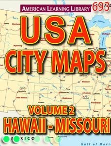 Digital book featuring maps of places in Iowa, including Des Moines, Sioux City, Omaha, and Cedar Rapids