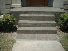 Striking Front Concrete Stairs Design