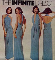 Disco 70s Multi Wrap Infinite Dress Vintage Sewing Pattern McCall's 5360--UNCUT--One Size