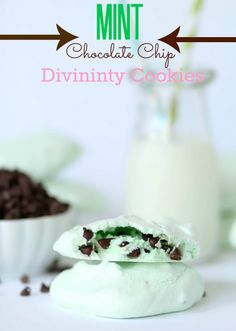 #glutenfree Mint Chocolate Chip Divinity Cookies