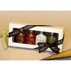 "Set Mignons ""Basispflege"". Diese Geschenkschachtel enthält 4 Mignon 25 ml:    •  Avocado Öl    •  Kokosnuss Öl    •  Aloe Vera Gel mit Minze    •  Roucou Sonnenöl LSF 4"