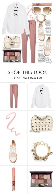 """""""Casual"""" by grinevagh ❤ liked on Polyvore featuring Alexander Wang, J.Crew, STELLA McCARTNEY, Benjamin Moore, Nicholas Kirkwood, Lanvin, Too Faced Cosmetics, Iman and London Road"""