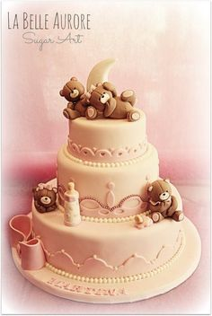 Party Bears Shower Cake ~ all edible