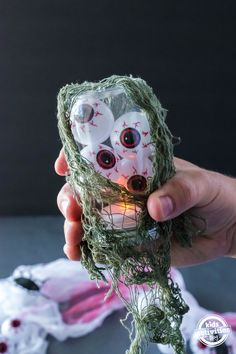 Halloween Eyeball Lantern - An Easy Indoor Halloween Decoration