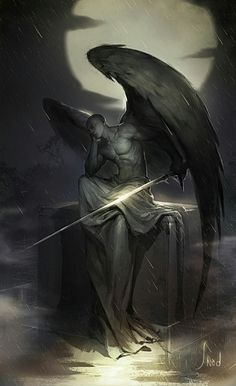 Image uploaded by Silver. Find images and videos about angel, fantasy and wings on We Heart It - the app to get lost in what you love. Dark Fantasy Art, Fantasy World, Dark Art, Male Angels, Angels And Demons, Fantasy Creatures, Mythical Creatures, Art Noir, Angeles
