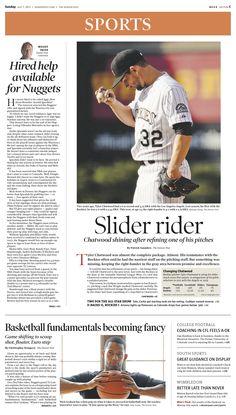 Sunday, July 7, 2013 Denver Post sports cover.