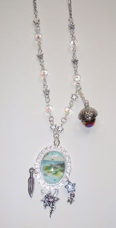 Neverland Kiss Necklace Adventures with Peter Pan by DrakonsLair