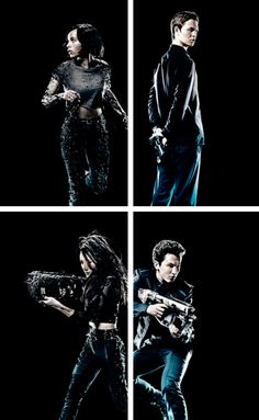 New Insurgent Posters<<<----- ah Caleb holding a gun behind his back ready to STAB someone in the back *cough* tris *cough*