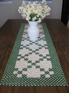 St Patricks Day Quilted Table Runner