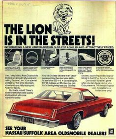 1975 Oldsmobile Cutlass Lion Edition