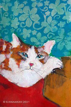 CAMERA EN KWAST Art Journals, December, Photographs, Paintings, Cats, Animals, Gatos, Animales, Paint