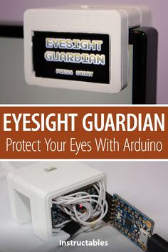 Daniel Hingston came up with an Arduino powered Eyesight Guardian which is meant to help you avoid eye strain by reminding you to look away from the computer using the 20-20-20 rule (look away from your screen for 20 seconds every 20 minutes, to a distance of 20 feet or more). #Instructables #electronics #technology #3Dprint #microcontroller Useful Arduino Projects, Arduino Class, Eye Strain, Distance, 3d Printing, Finding Yourself, Engineering, Technology, Electronics