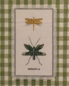 Dragonfly Duo Stamped Cross Stitch KIT Nature Collection Janlynn 18 ct Aida in Crafts   eBay