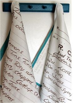 ideas for mother's day gifts! favorite recipe tea towel