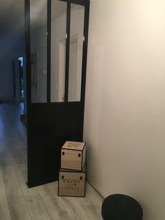 Tag re ch ne massif about et acier hiba atelier for Cloison amovible atelier noir