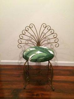 Brass vanity chair $80