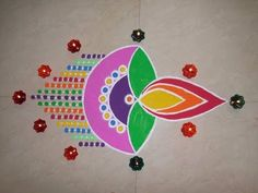 Bizarre Diya Rangoli On Diwali Occasion. - YouTube