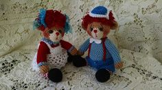 Collectible artist thread crochet bears in by SweetHeartThreads, $75.00
