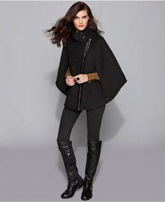 ShopStyle: Via Spiga Coat, Asymmetrical-Front Cape