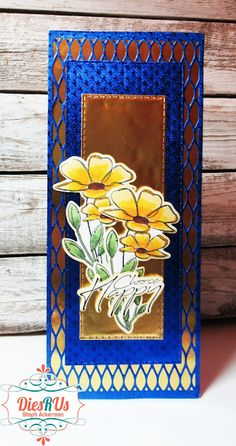 Dies R Us: Floral Slimline Card Best Glue, Foil Paper, This Is Us, Friends, Frame, Floral, Projects, Cards, Design