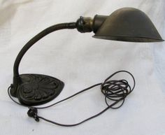 IRON GOOSENECK TABLE Lamp by KaRiTyThisAndThat on Etsy, $80.00
