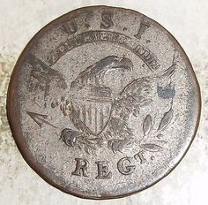 Regiment war of 1812 infantry button Historical Photos, Historical Clothing, Clay Pipes, British Uniforms, War Of 1812, Star Spangled Banner, Home Of The Brave, American Revolutionary War, Old Glory