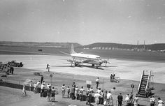 Louis Botha airport, Durban, March 1966 | ALLEN E SCHULTZ PHOTOGRAPHY Durban South Africa, Kwazulu Natal, African History, Historical Society, Old Pictures, Historical Photos, Live, East Coast, Airports