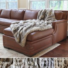 Wild Mannered Luxury Long Hair Faux Fur Lap Throw - Overstock™ Shopping - Great Deals on Throws