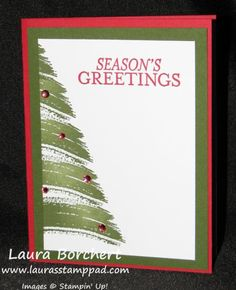 For more on this and a video tutorial, check out my blog at http://laurasstamppad.com/2014/09/25/work-of-art-holiday-cards/
