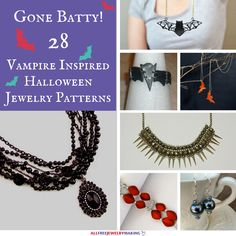Going Batty: 28 Vampire Inspired Halloween Jewelry Patterns | AllFreeJewelryMaking.com