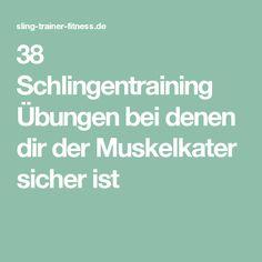 38 Schlingentraining Übungen bei denen dir der Muskelkater sicher ist