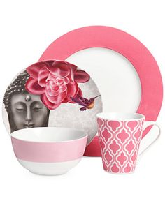 Clinton Kelly Effortless Table Buddha's Secret 4 Piece Place Setting - Fine China - Dining & Entertaining - Macy's