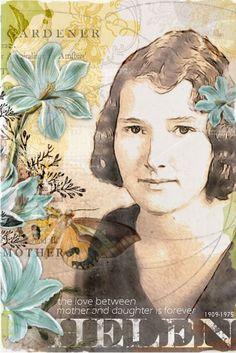 Helen #scrapbook #vintage #pocketcards