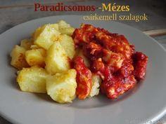 Kipróbált és bevált receptek ...: Paradicsomos-mézes csirkemell szalagok