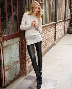 Wrap London Ellis leather trousers aus Stretch-Lammleder