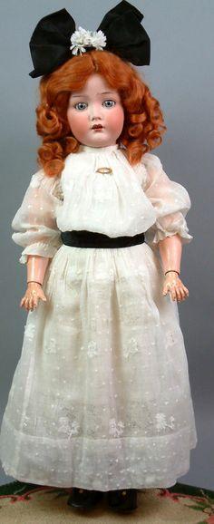 "Gorgeous Blue Eyed 22"" Cuno Otto Dressel ""Mein Liebling"" Antique Doll C 1900   eBay"