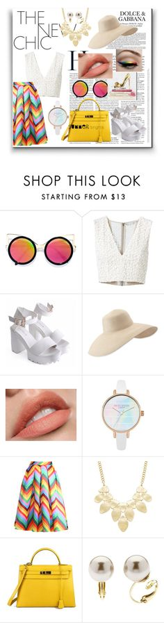 """""""COLORFUL SUMMER"""" by fashion-unit ❤ liked on Polyvore featuring LULUS, Alice + Olivia, Oliver Gal Artist Co., Eric Javits, Relaxfeel, INC International Concepts, Hermès, Finesse and summerbrights"""