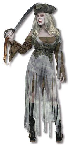 Geister Piratin Kostüm | Zombie Kostüm | horror-shop.com